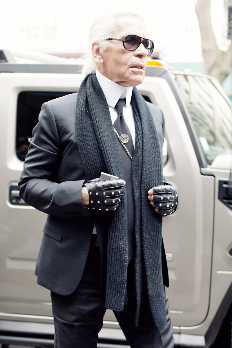 65fef110bb Karl Lagerfeld in Dior Homme sunglasses